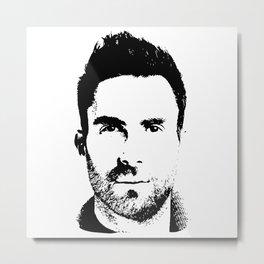 Adam Levine (silhouette) Metal Print