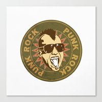 punk Canvas Prints featuring punk by mark ashkenazi