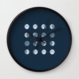8bit Moon Phases Wall Clock