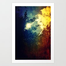 Dreaming in Color (of My First Flight) Art Print