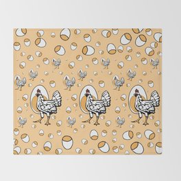 Retro Roseanne Chickens Throw Blanket