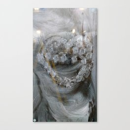 The painted heart Canvas Print