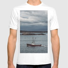 Home from the Seas White Mens Fitted Tee MEDIUM