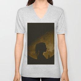 Moon gazer (GOLD) Unisex V-Neck