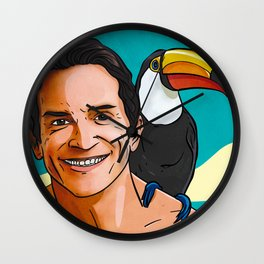Jeff Probst Hot Sand Steamy Nights Wall Clock