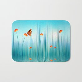Spring Blue Bath Mat