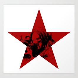 Winter Soldier Star Art Print
