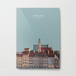 Warsaw, Poland Travel Artwork Metal Print
