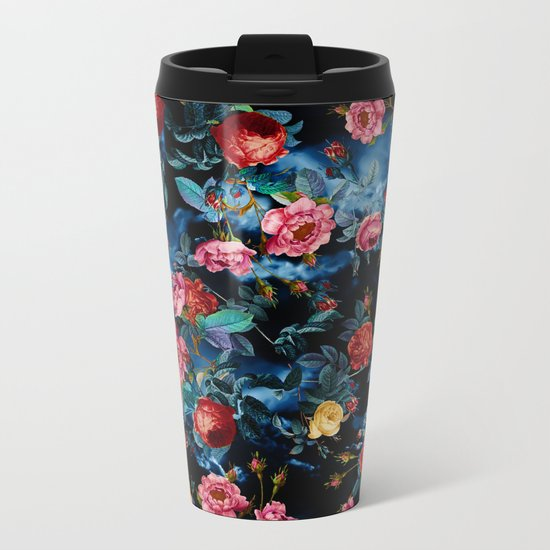NIGHT FOREST XVI Metal Travel Mug