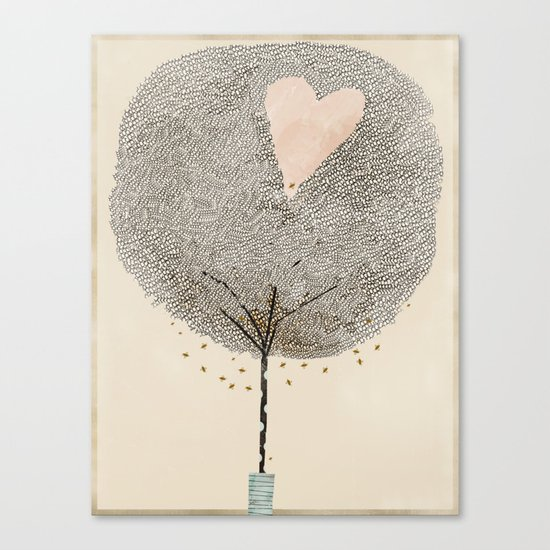 how love grows Canvas Print