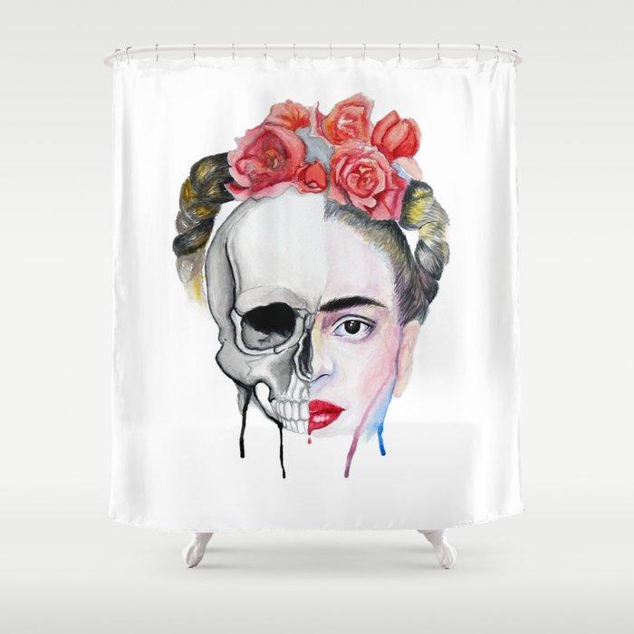 Frida Kahlo Shower Curtain By Karolgallegoscarrera