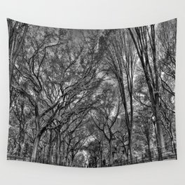 Central Black Wall Tapestry