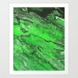 Emerald Fire Art Print