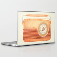 radio Laptop & iPad Skins featuring Radio Silence by One Curious Chip