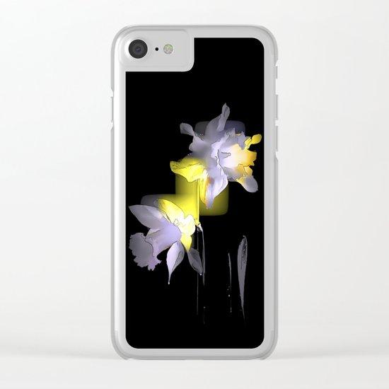 Cubist Daffodils Clear iPhone Case