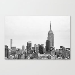 The New York Cityscape City (Black and White) Canvas Print