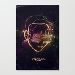 Asian Disco Laser Canvas Print