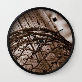 Fallen Fence Post Wall Clock