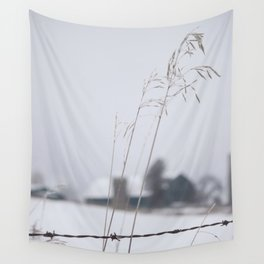 Winter Time in Rural Canada Wall Tapestry