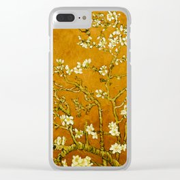 Almond Blossoms- Orange Clear iPhone Case