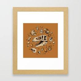 Geo-rex Vortex   Citrine Quartz Framed Art Print