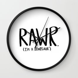 Rawr. I'm a Dinosaur Wall Clock