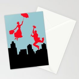 Blue Mary Poppins Stationery Cards