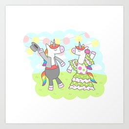Unicorn Flamenco Art Print