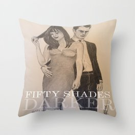 Fifty Shades Darker- portraits Throw Pillow