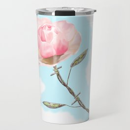 Old but beautiful...barbed wire rose Travel Mug