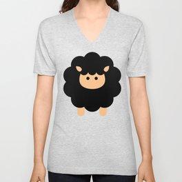 Cute Sheep, Cartoon Sheep, Baby Sheep, Black Sheep Unisex V-Neck