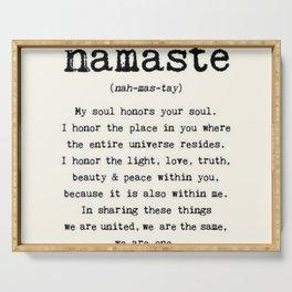 Namaste Serving Tray