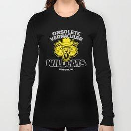 Obsolete Vernacular Wildcats (Royal Tenenbaums) Long Sleeve T-shirt