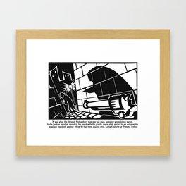 you're shot, major Framed Art Print