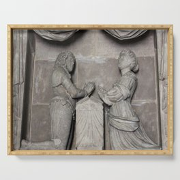 Monument To William Wentworth And His Wife Henrietta Serving Tray