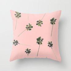 Palms on Pink Throw Pillow