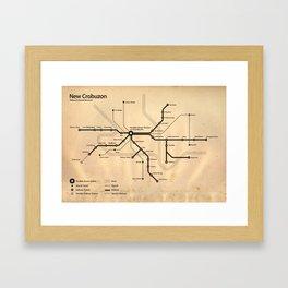 Perdido Street Station Map Framed Art Print