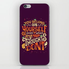 Thoughts are only thoughts iPhone Skin