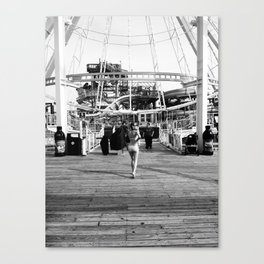 Lisa on the Boardwalk Canvas Print