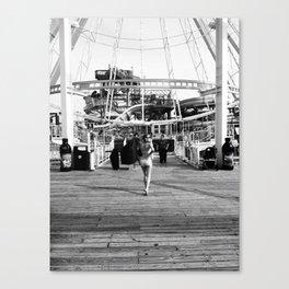 Lisa on the Boardwalk Canvas Print