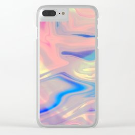 Holographic Dreams Clear iPhone Case