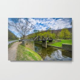 Over the Shenandoah Canal Metal Print
