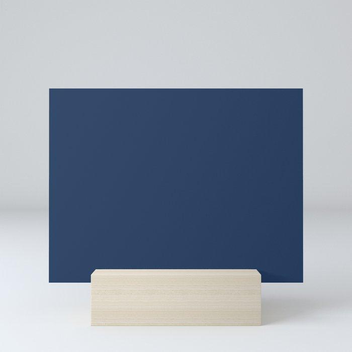 Navy Peony | Pantone Fashion Color Fall : Winter 2017 | New York | Solid Color Mini Art Print