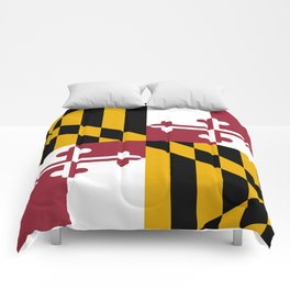Flag of Maryland, High Quality image Comforters
