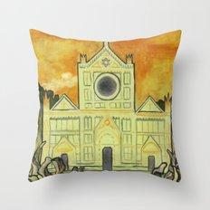 Santa Nouveau Throw Pillow