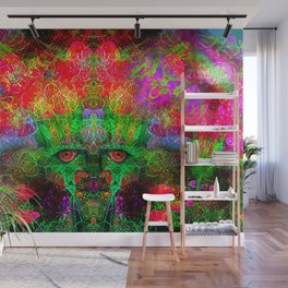 The Flower King Wall Mural