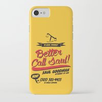 better call saul iPhone & iPod Cases featuring Better Call Saul by Krikoui