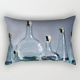 Reflections in Blue Rectangular Pillow