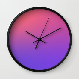 HALLOWEEN CANDY - Minimal Plain Soft Mood Color Blend Prints Wall Clock