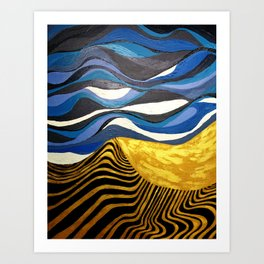 Sun and Tides Art Print